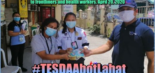 donated and distributed the 115 pcs. of fabricated facemasks to Calumpit District Hospital and 152 facemasks and 2.3 liters of hand sanitizer